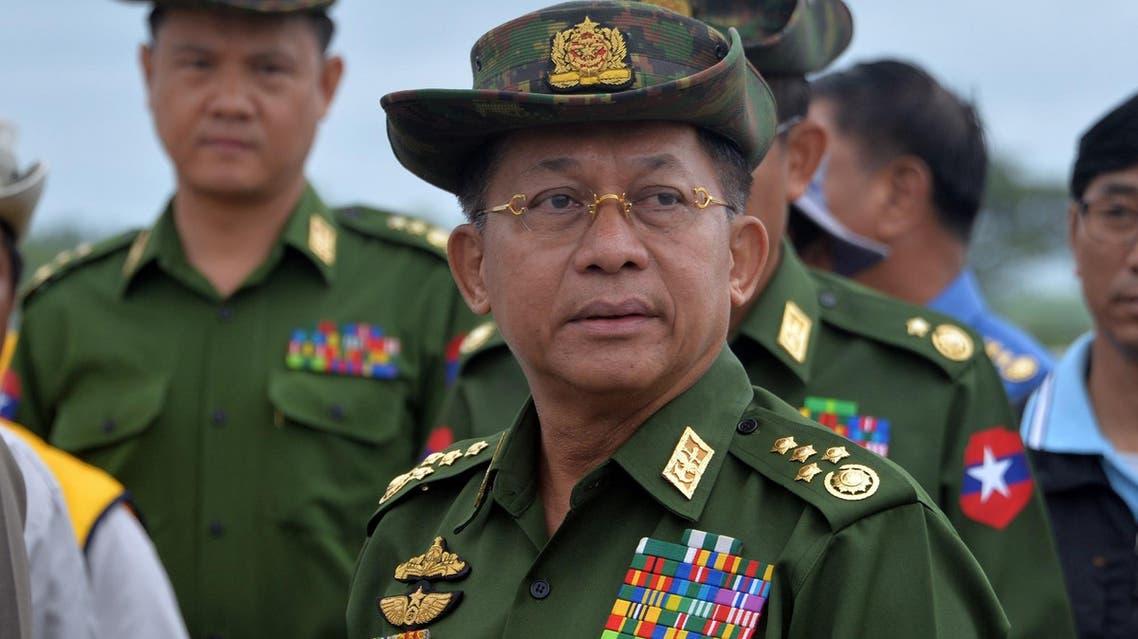 Senators urged sanctions against Min Aung Hlaing under the Magnitsky Act. (AFP)