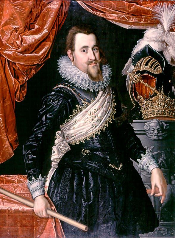 صورة للملك الدنماركي كريستيان الرابع
