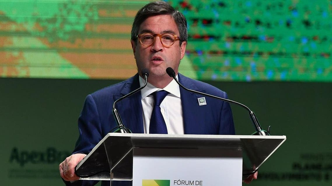 Luis Alberto Moreno, president of the Inter-American Development Bank (IDB) speaks, during an Investment Forum in Sao Paulo, Brazil. (AFP)