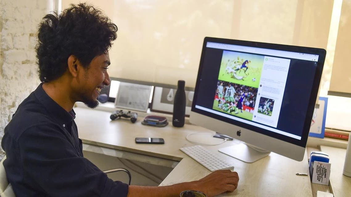 Bangladeshi architect drawing Messi. (AFP)