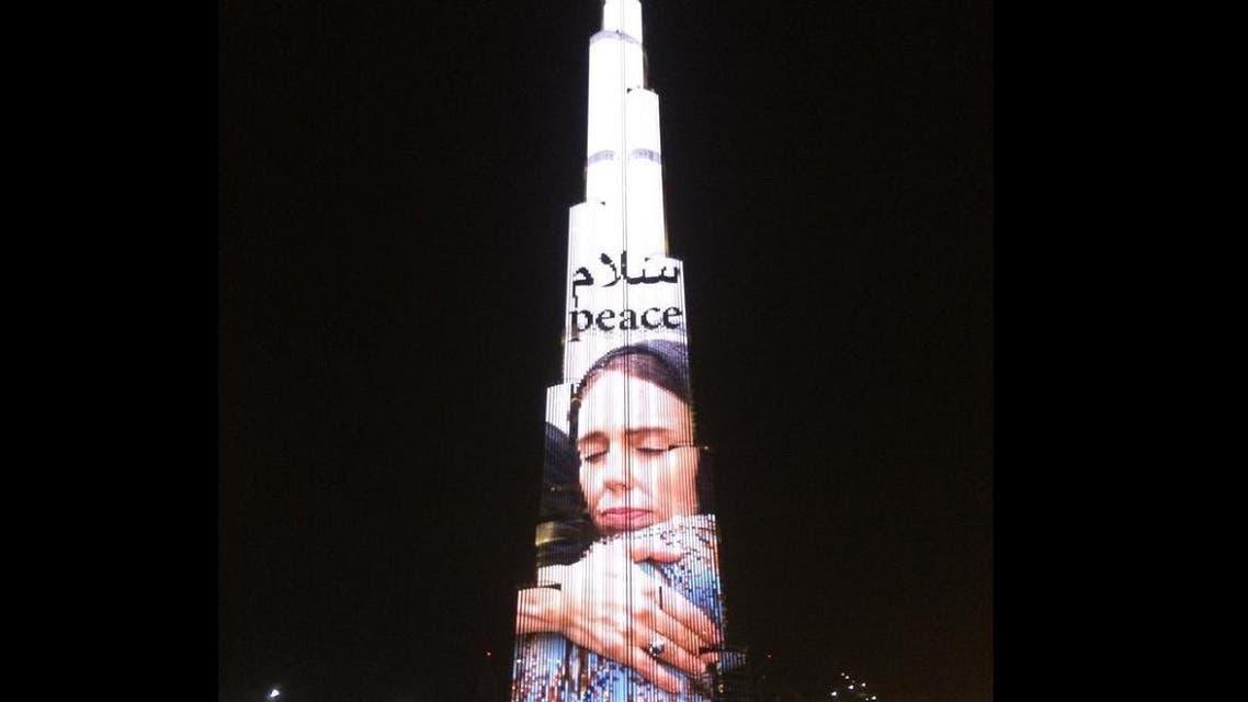 Dubai's Burj Khalifa lights up as a tribute to NZ attack victims