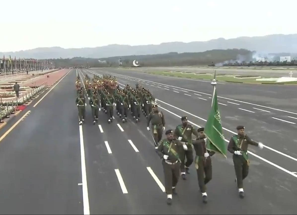 View of Royal Saudi Armed Forces at Pakistan Day parade in Islamabad on Saturday.  (File photo)