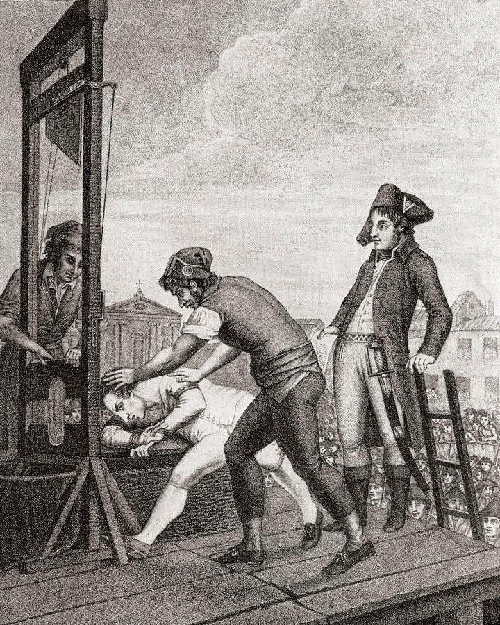 لوحة تجسد عملية اعدام ماكسيمليان روبسبيار