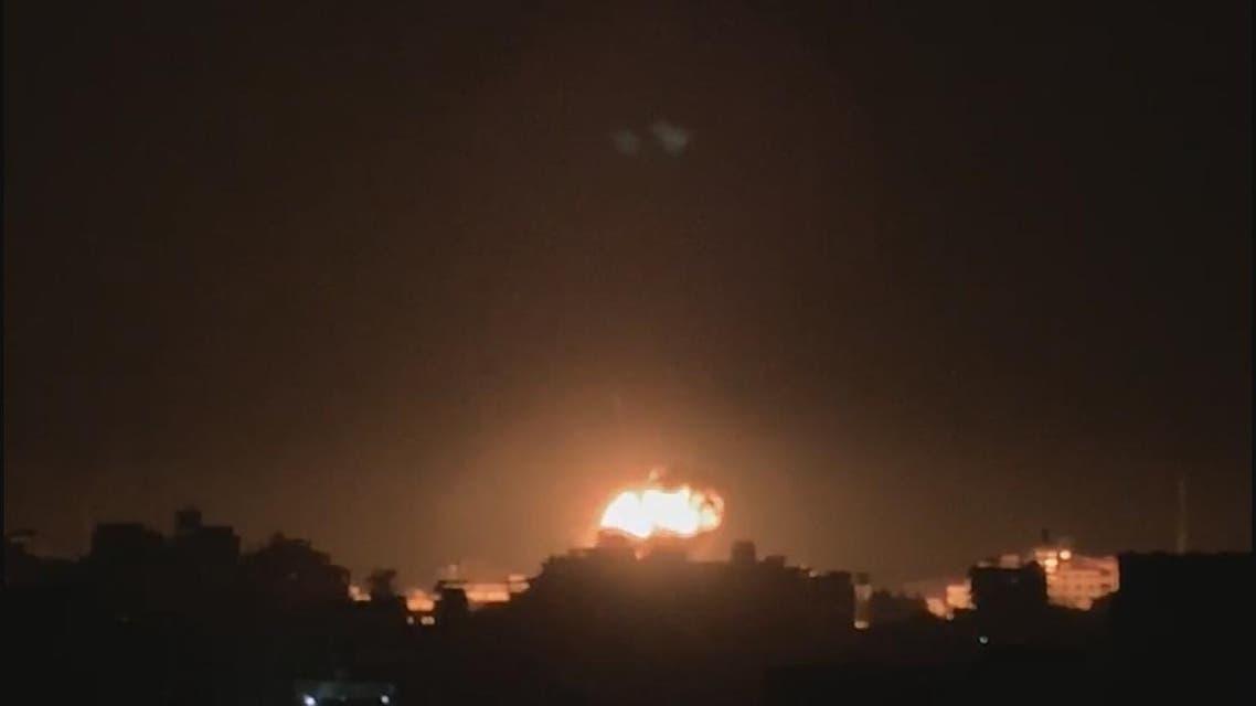 THUMBNAIL_ غارة إسرائيلية تستهدف مكتب هنية في غزة