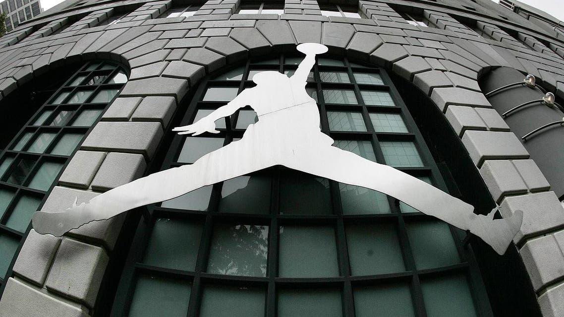 The Michael Jordan Logo is seen on the outside of Niketown Monday, June 27, 2005, in Portland, Ore. (AP)