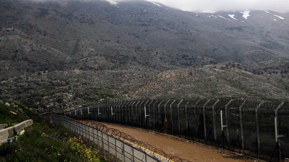 Fences are seen on the ceasefire line between Israel and Syria in the Israeli-occupied Golan Heights March 25, 2019. REUTERS/Ammar Awad