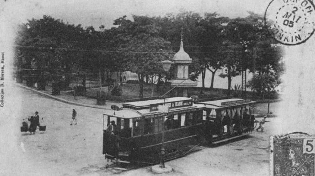 الترامواي بمديمة هانوي سنة 1901