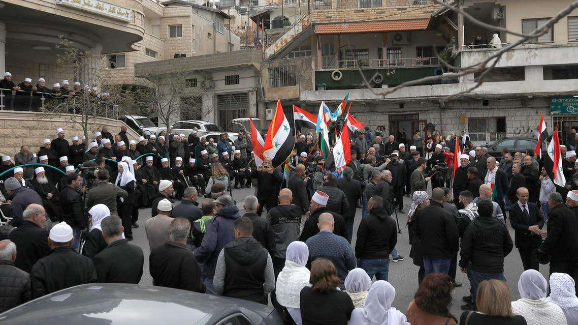 Syria Golan Heights protests (AFP)