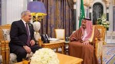 Saudi King Salman meets commander of Libyan army