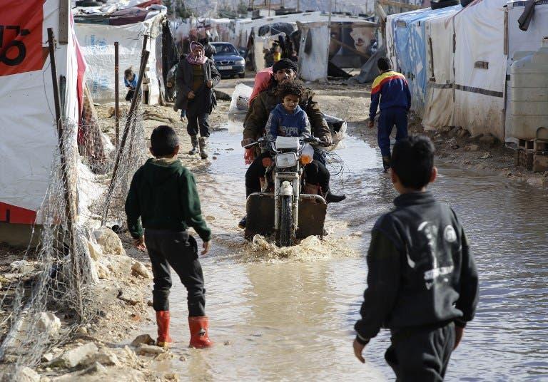 لاجئون سوريون في لبنان