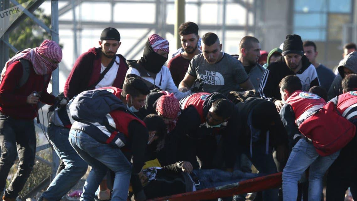 مقتل مسعف فلسطيني