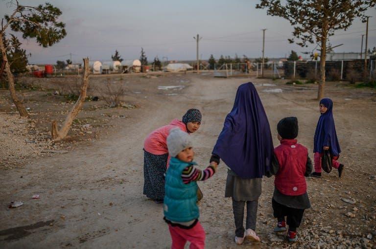من مخيم الهول في سوريا