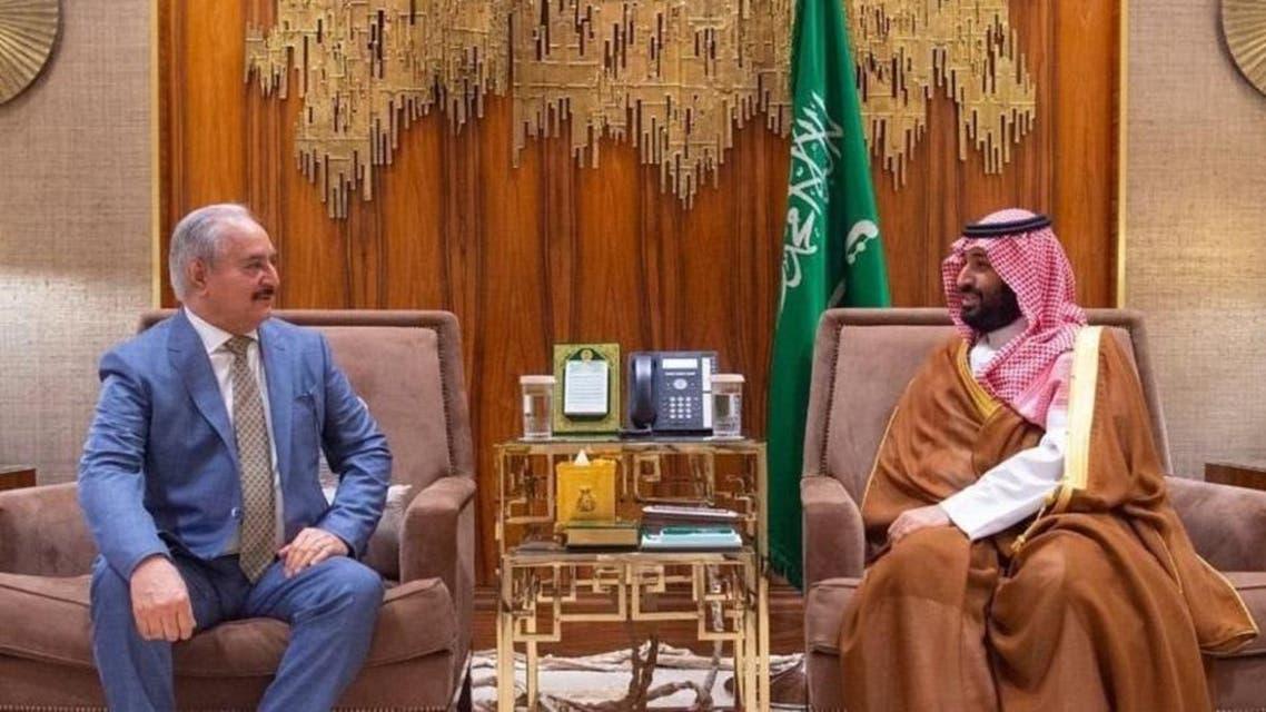 Khalifa Haftr and Saudi Crown Prince