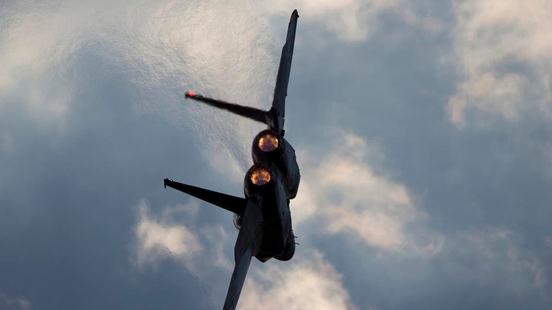 an Israeli Air Force F-15 plane in flight during a mission. (AP)