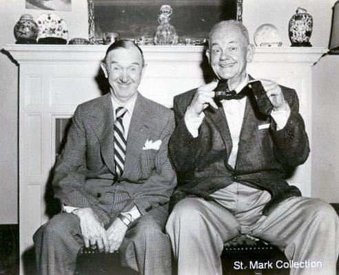 آخر صورة التقطت سنة 1956 للوريل وهاردي