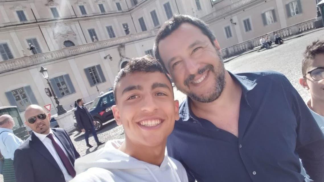 رامي شحاتة مع وزير الداخلية الإيطالي