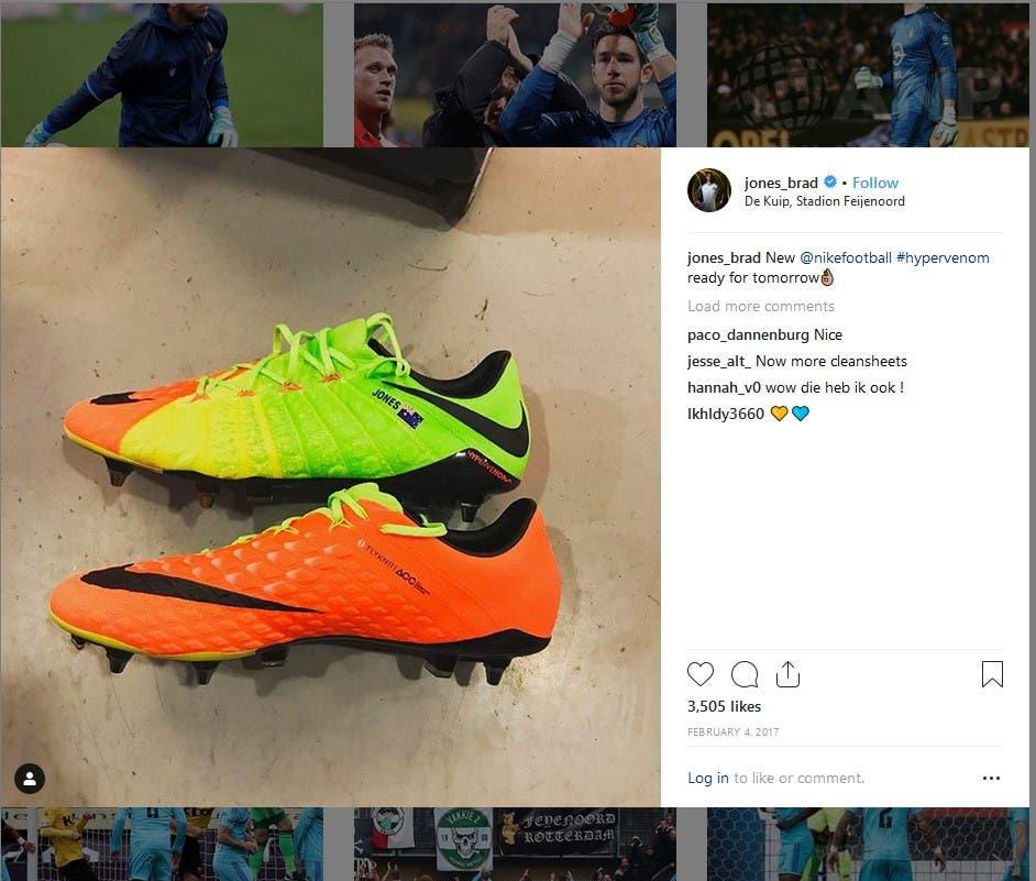 """براد جونز نشر صورة حذاءه الجديد من """"نايكي"""""""