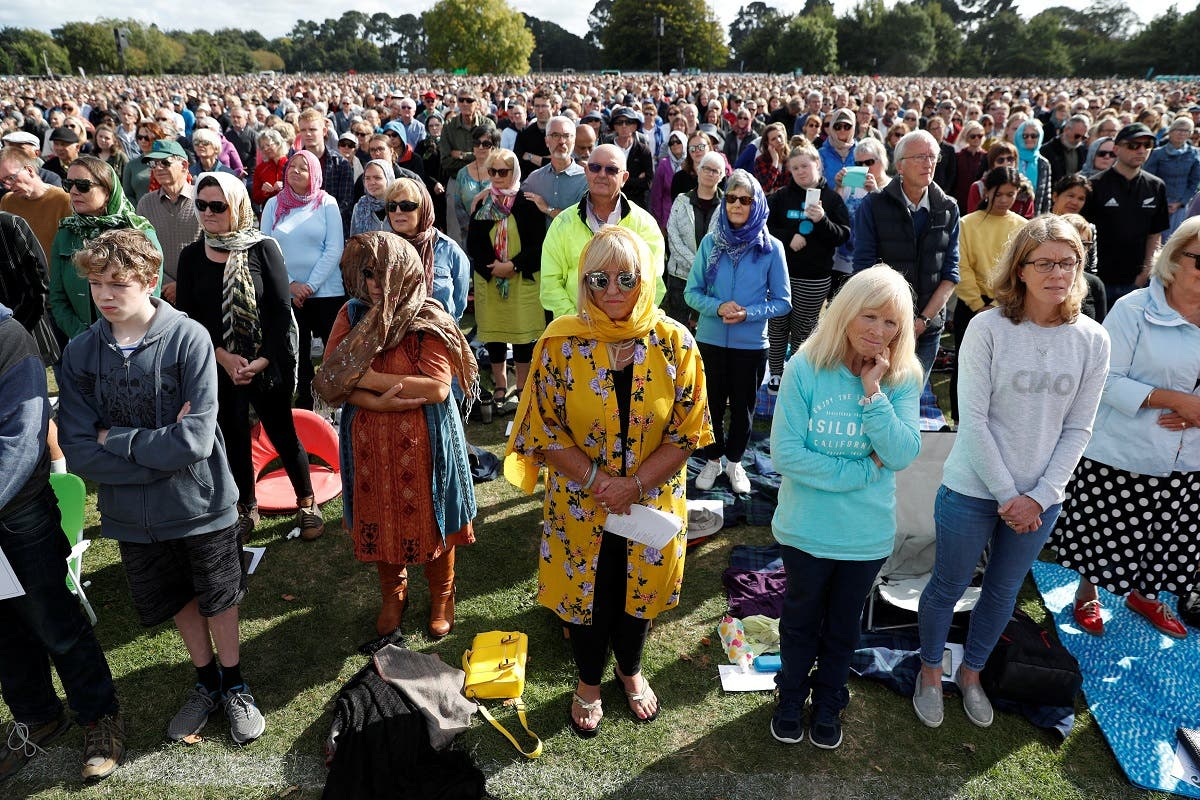 National remembrance service for victims of the mosque attacks, at Hagley Park in Christchurch. (Reuters)