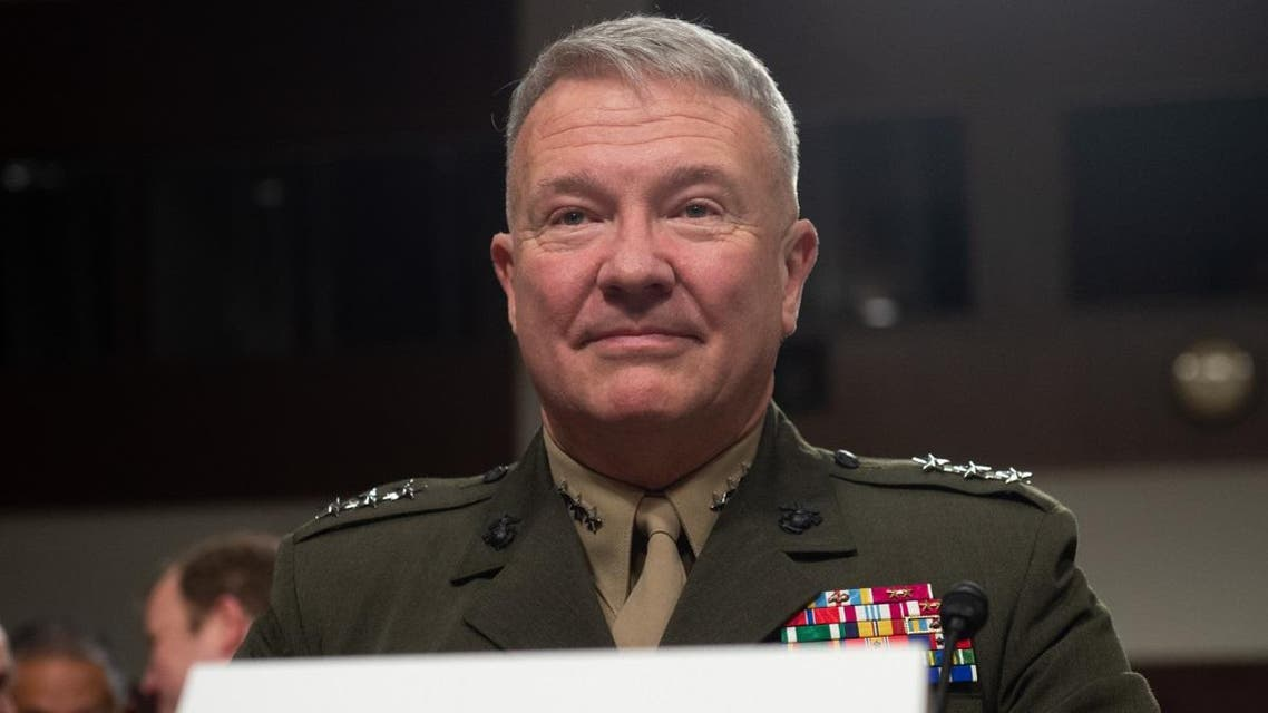 Marine Corps Lt. Gen. Kenneth F. McKenzie Jr., nominee to be general and commander of the US Central Command, testifies during a Senate Armed Service Committee confirmation hearing on Capitol Hill in Washington, DC, December 4, 2018. (AFP)