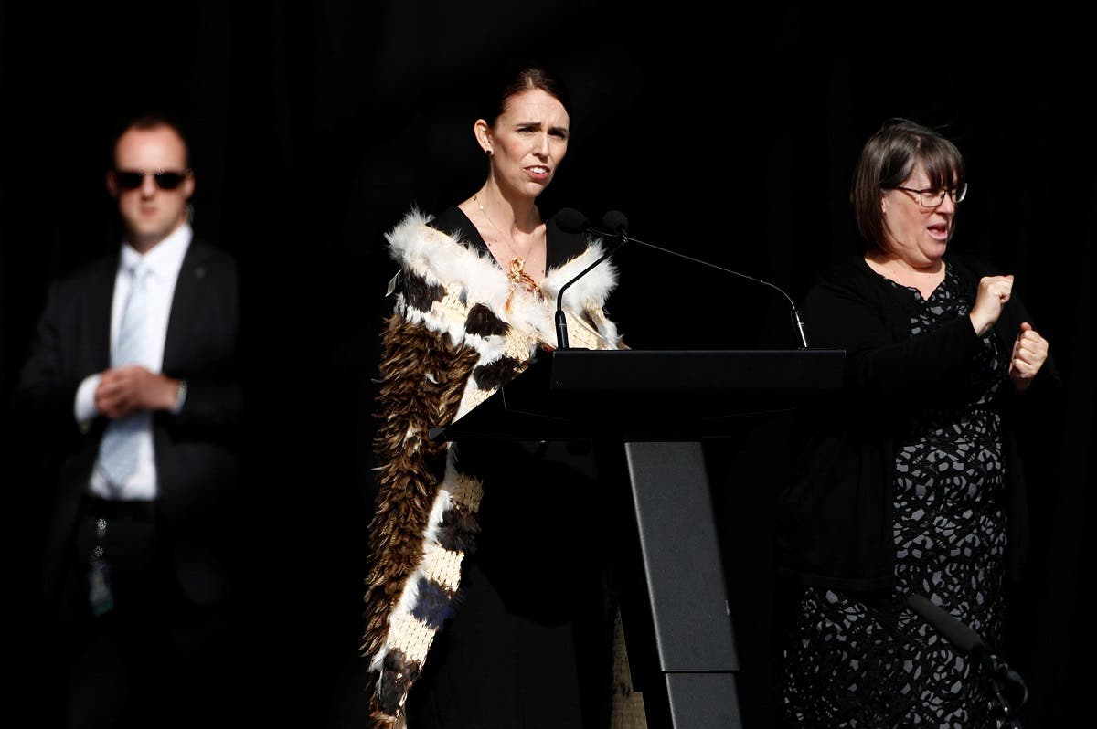 New Zealand's Prime Minister Jacinda Ardern speaks during the national remembrance service for victims of the mosque attacks. (Reuters)