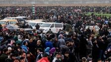 غزہ:حقِ واپسی  مارچ ، ہزاروں  فلسطینیوں  کا  اسرائیل کے خلاف  احتجاج