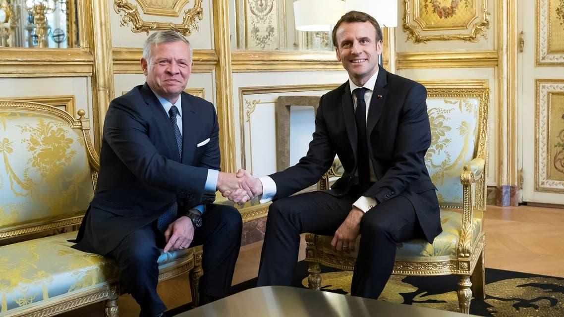 الرئيس الفرنسي والعاهل الأردني في باريس