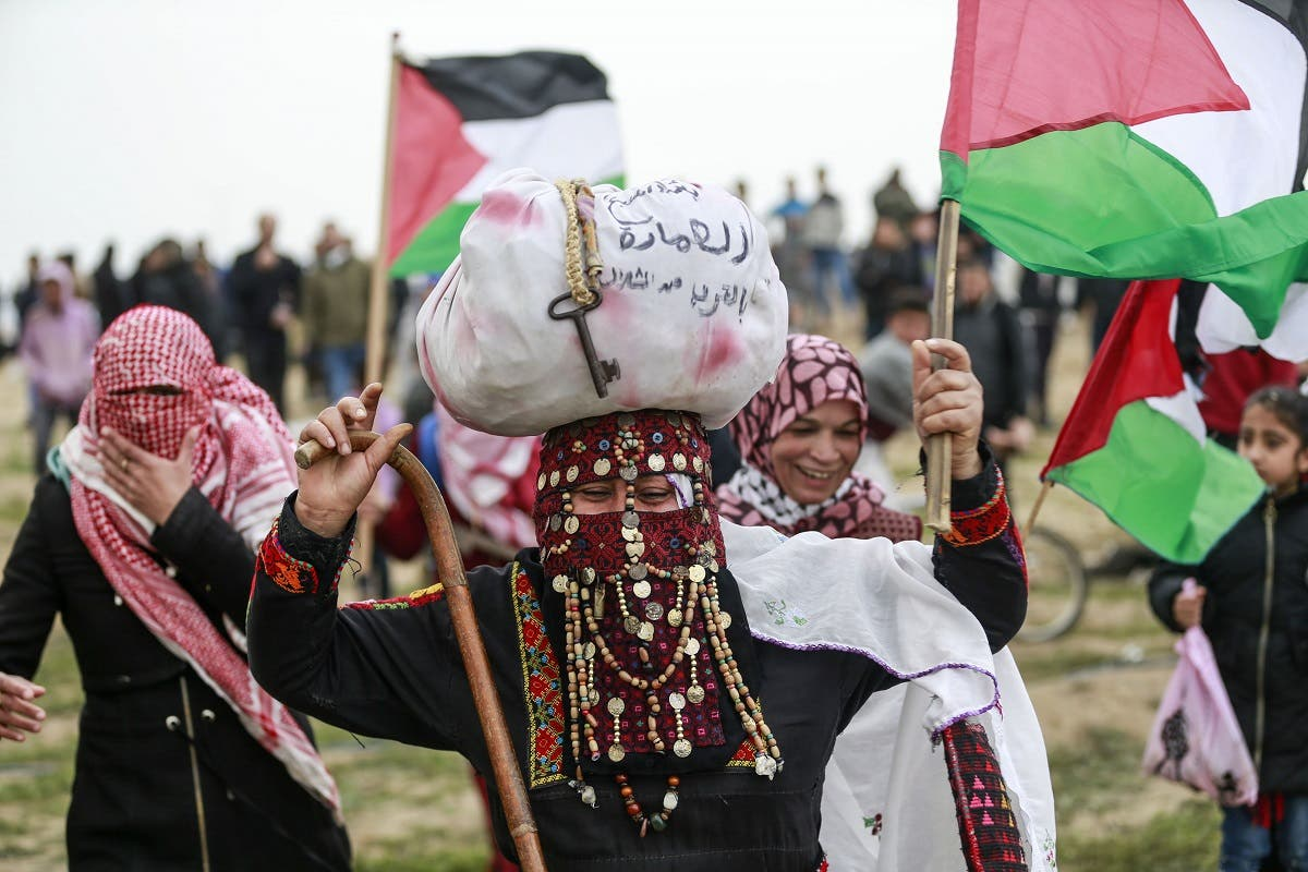 Gaza 1st anniversary of March of Return 2. (AFP)