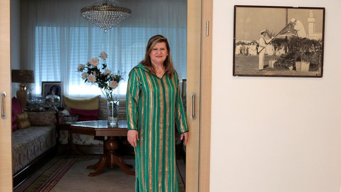 Suzanne Harroch, a Jewish Moroccan singer poses for a portrait in her house in Rabat. (Reuters)
