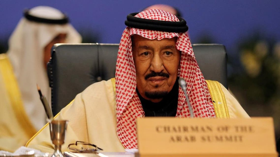 Saudi King Salman at the Arab League summit in Tunisia. (Reuters)