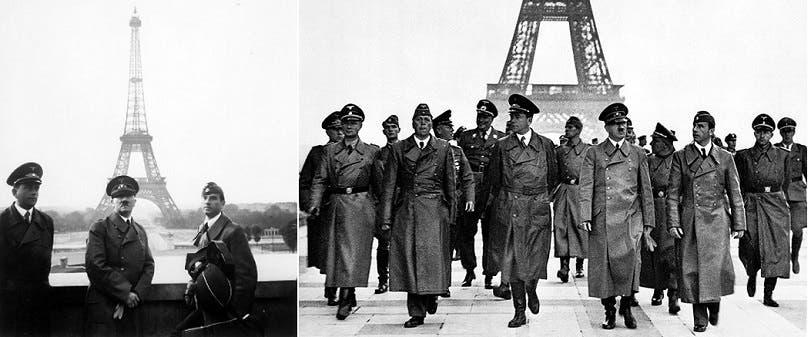 هتلر الذي تمكن في 1940 من احتلال معظم فرنسا، عجز عن الصعود الى قمة ايفل