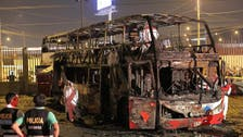 At least 20 killed after bus in Peru catches fire at banned bus stop