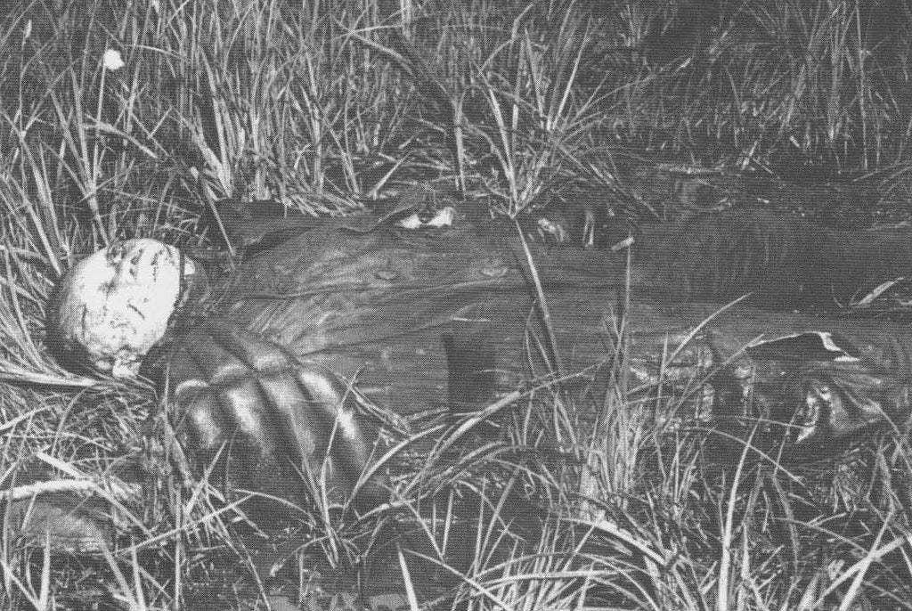 صورة لجثة الطيار تادايوشي كوغا
