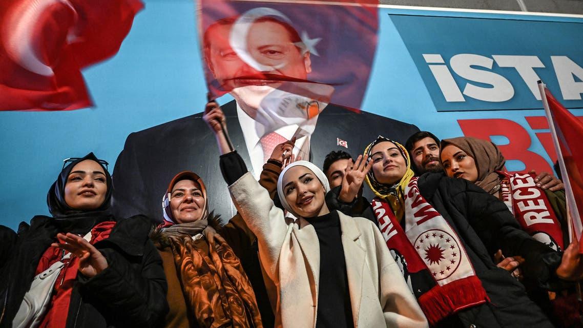 مناصرون لأردوغان في اسطنبول(فرانس برس)