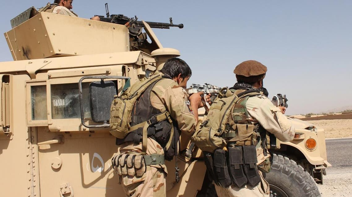 Afghanistan's security forces take their position during a clash with Taliban fighters in the highway between Balkh province to Kunduz city, north of Kabul. (File photo: AP)