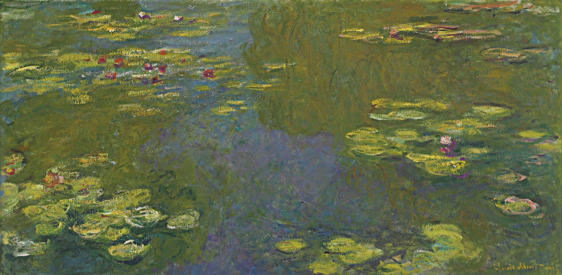 صورة للوحة مياه بركة الزنبق