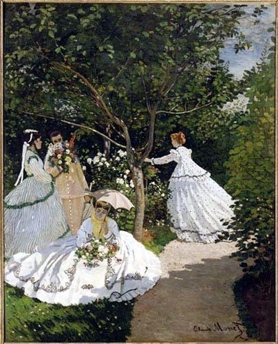 لوحة نساء في الحديقة لكلود مونيه