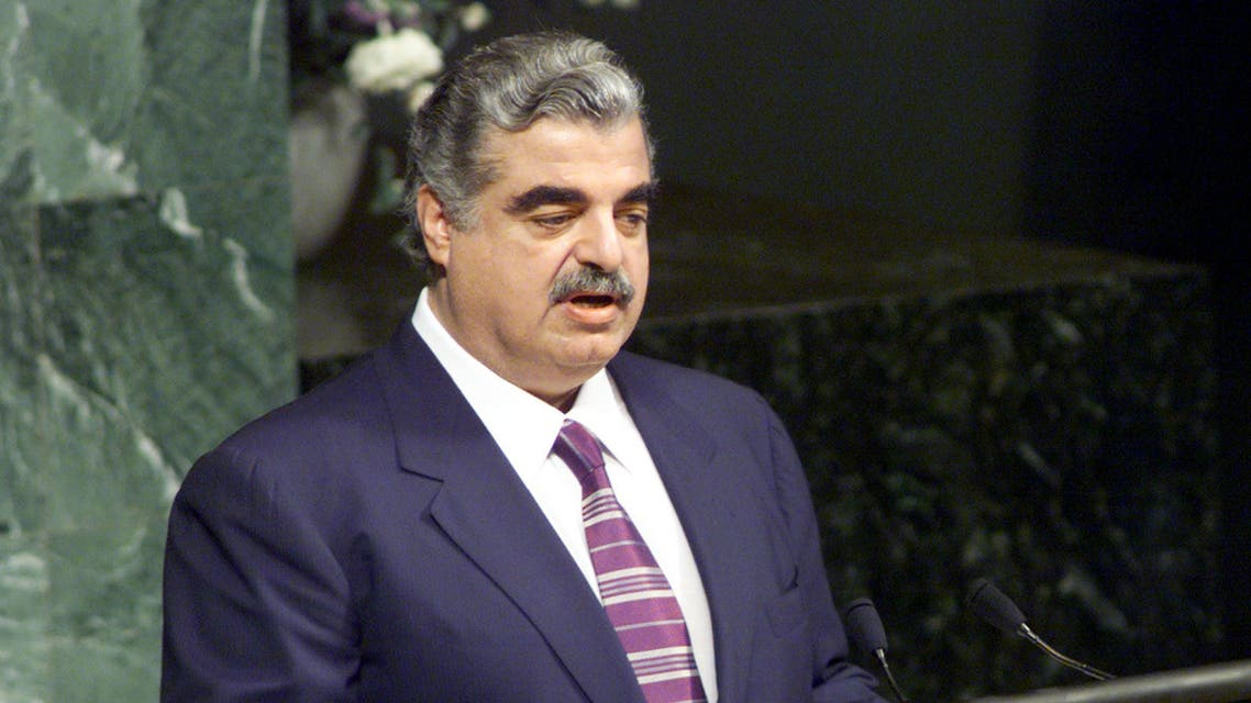 رئيس الحكومة اللبنانية السابق رفيق الحريري