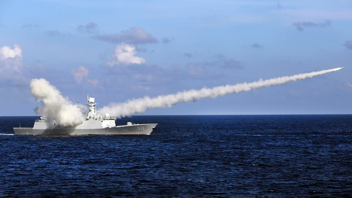 In this July 8, 2016 file photo, Chinese missile frigate Yuncheng launches an anti-ship missile during a military exercise in the waters near south China. (AP)