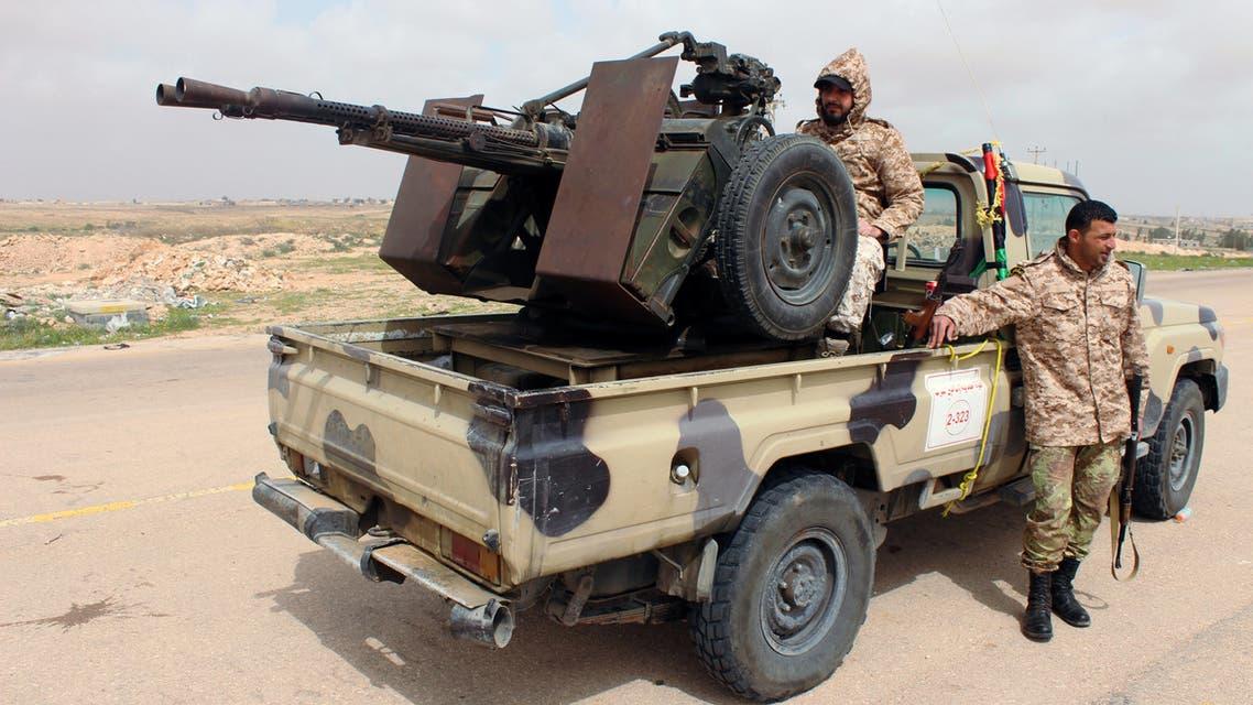 عناصر تابعة لحكومة الوفاق في ليبيا