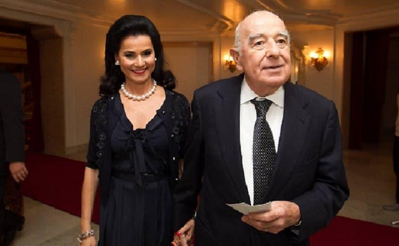 جوزيف صفرا وزوجته فيكي سرفاتي