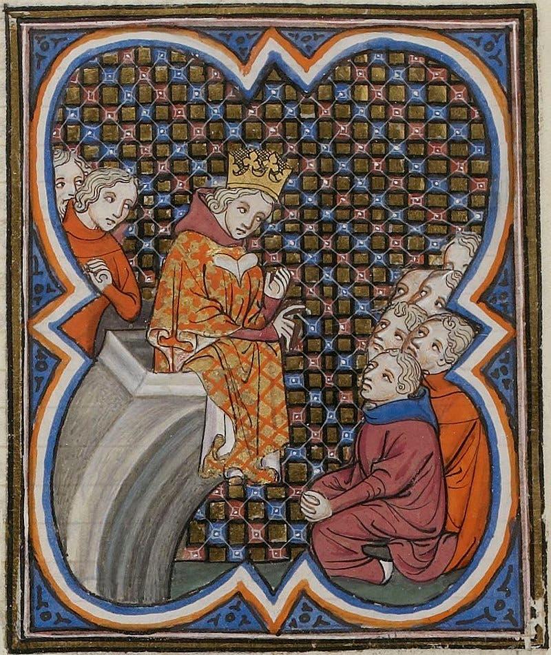 رسم تخيلي لشارل الثاني ملك نافارا