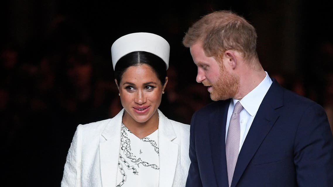 Prince Harry and Meghan at Westminster Abbey in London on March 11, 2019. (Reuters)