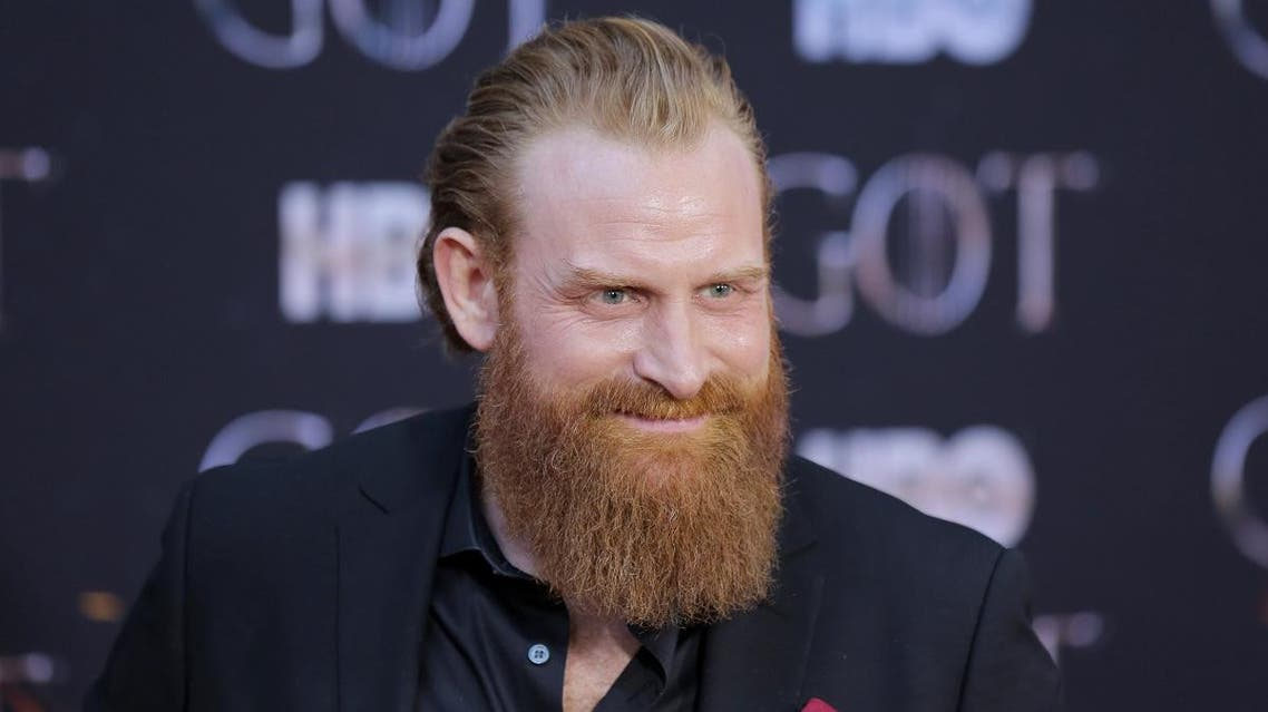 "Kristofer Hivju arrives for the premiere of the final season of ""Game of Thrones"" at Radio City Music Hall in New York, US, on April 3, 2019. (Reuters)"