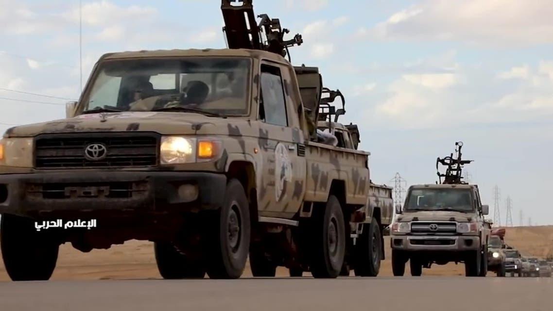 آليات للجيش الليبي تتجه نحو طرابلس