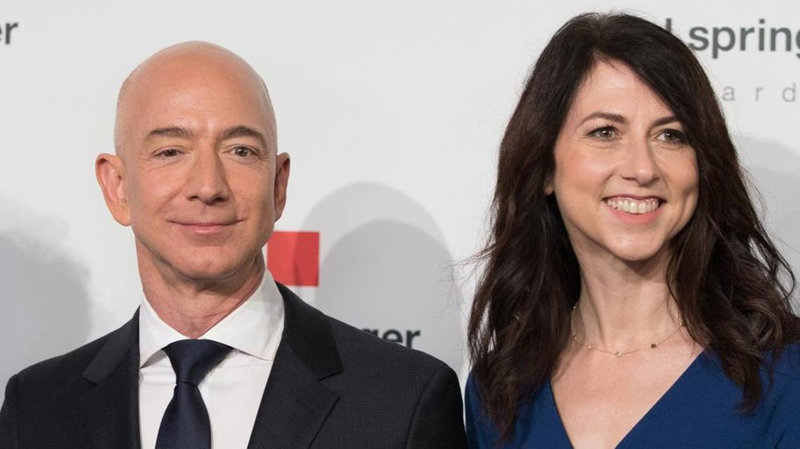 jeff bezos and wife (afp)