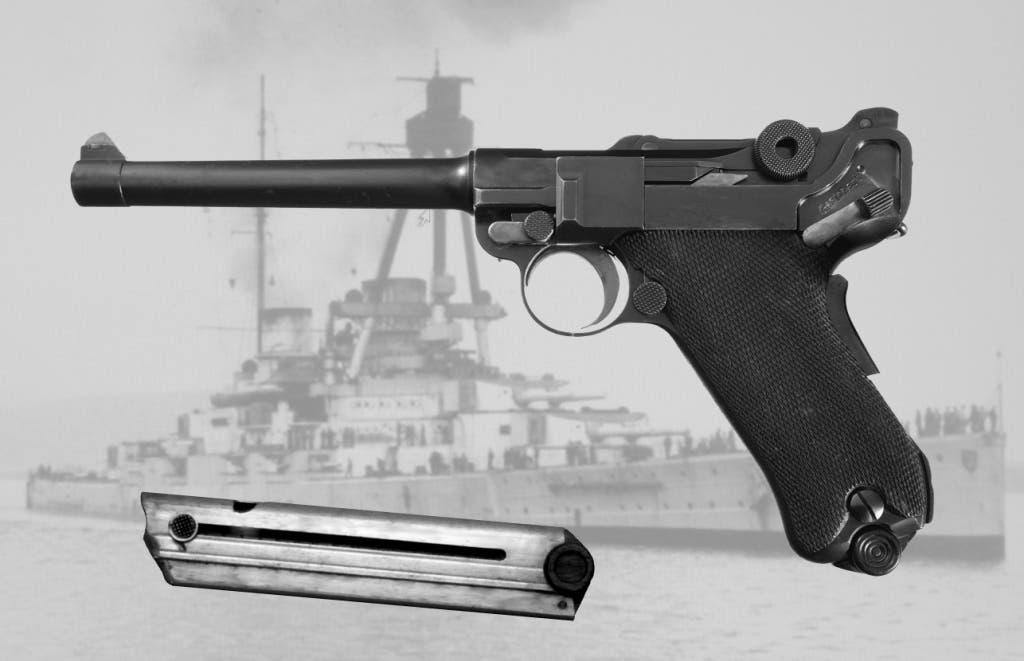 صورة لمسدس لوغر