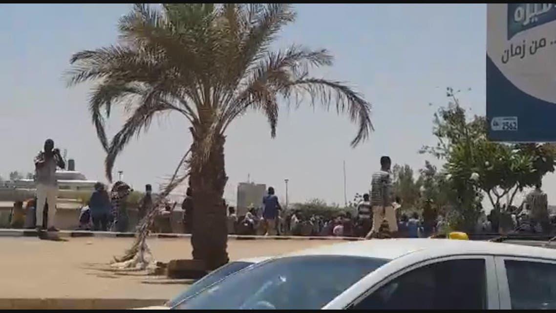 THUMBNAIL_ احتجاجات قرب القيادة العامة في السودان