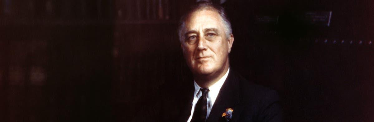 صورة للرئيس الأميركي فرانكلن روزفلت