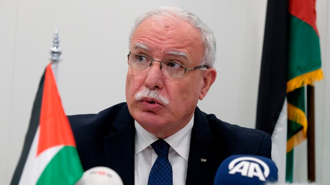 Palestinian foreign minister Riad Malki. (AP)