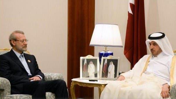 رئيس وزراء قطر للاريجاني: مواقفنا تتماشى مع مواقف طهران